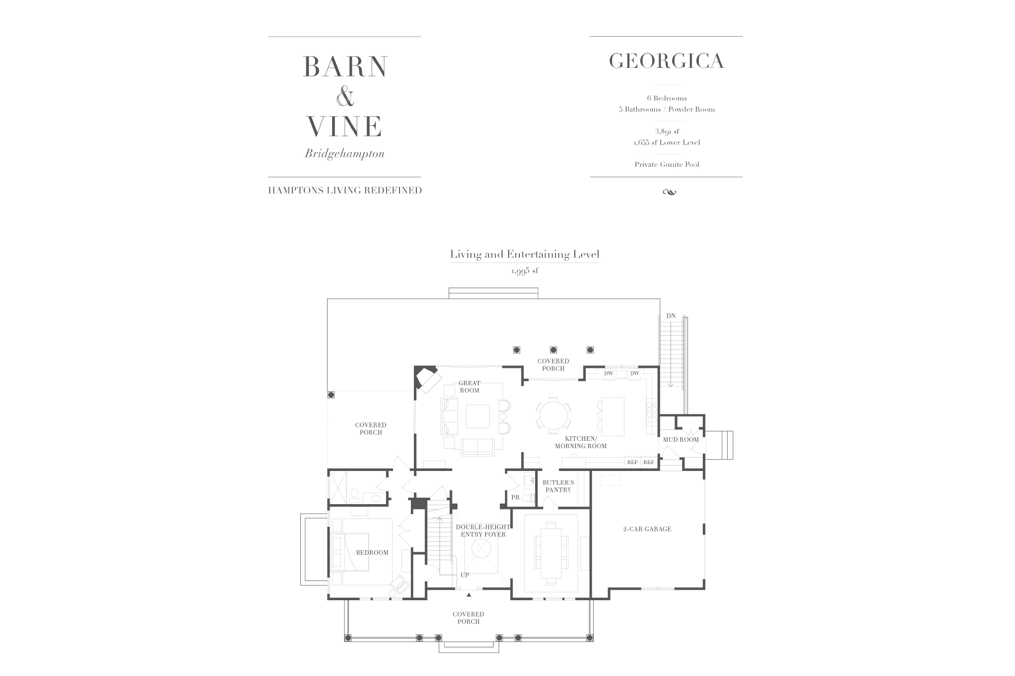 Single Family Home for Sale at Barn & Vine's Georgica. A Fresh Look At Bridgehampton Tradition 77 Birchwood Lane, (Georgica Model Lot 23), Bridgehampton, New York